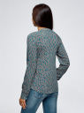 Блузка вискозная прямого силуэта oodji #SECTION_NAME# (бирюзовый), 21400394-1B/39658N/6E33F - вид 3