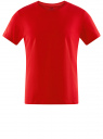 Футболка базовая oodji для мужчины (красный), 5B621002M/44135N/4500N