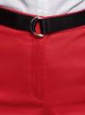 Шорты хлопковые с ремнем oodji для женщины (красный), 11801117/33621/4500N
