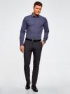 Рубашка базовая из хлопка  oodji для мужчины (синий), 3B110026M/19370N/7910G - вид 6