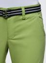 Шорты хлопковые с ремнем oodji #SECTION_NAME# (зеленый), 12807089/48153/6B00N - вид 4