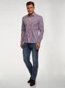 Рубашка в клетку с длинным рукавом oodji #SECTION_NAME# (разноцветный), 3B110028M/39767N/7945C - вид 6
