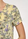 Блузка свободного силуэта с вырезом-капелькой oodji #SECTION_NAME# (желтый), 11411157/46633/5280F - вид 5