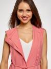 Жилет из струящейся ткани с поясом oodji #SECTION_NAME# (розовый), 22305004-1/43859/4100N - вид 4