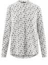 Блузка вискозная А-образного силуэта oodji для женщины (белый), 21411113B/42540/1229F