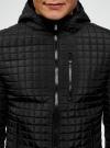 Куртка стеганая с капюшоном oodji #SECTION_NAME# (черный), 1B112007M/46376N/2900N - вид 4