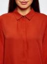 Блузка из струящейся ткани oodji #SECTION_NAME# (красный), 11400368-3/32823/4501N - вид 4