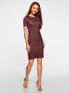 Платье в рубчик oodji #SECTION_NAME# (красный), 14011031/47349/4923N - вид 6