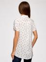 Блузка из вискозы с нагрудными карманами oodji #SECTION_NAME# (белый), 11400391-4B/24681/1279O - вид 3