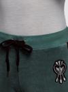 Брюки спортивные с лампасами oodji для женщины (зеленый), 16700058/47883/6C00P - вид 4