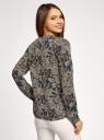 Блузка принтованная из вискозы oodji для женщины (черный), 21400394-1/24681/2919F