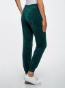 Брюки спортивные на завязках oodji для женщины (зеленый), 16701052B/47883/6E00N