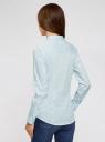 Рубашка приталенная с нагрудными карманами oodji #SECTION_NAME# (синий), 11403222-4/46440/7010S - вид 3