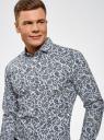 "Рубашка хлопковая с принтом ""пейсли"" oodji #SECTION_NAME# (синий), 3L110325M/19370N/1079E - вид 4"