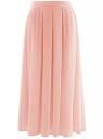 Юбка со складками из струящейся ткани oodji #SECTION_NAME# (розовый), 21600285-2B/17358/4000N