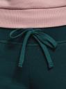 Брюки на завязках из футера с начесом oodji для женщины (зеленый), 16700030-25B/19014N/6E00N