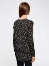 Блузка принтованная из вискозы oodji #SECTION_NAME# (черный), 21412143-1/42127/2933F - вид 3