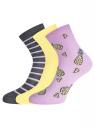 Комплект из трех пар носков oodji для женщины (разноцветный), 57102466T3/47469/30