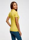 Поло с металлическими пуговицами и вышивкой на груди oodji #SECTION_NAME# (желтый), 29311001/39813N/5100N - вид 3