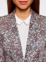 Жакет приталенный базовый oodji #SECTION_NAME# (розовый), 21203064-5B/14522/4175E - вид 4
