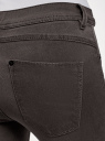 Джинсы skinny из мягкой ткани oodji для женщины (серый), 12104075/47782/2300W
