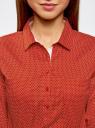 Рубашка базовая с нагрудными карманами oodji для женщины (красный), 11403222B/42468/4512D