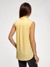 Топ хлопковый с рубашечным воротником oodji #SECTION_NAME# (желтый), 14901416-1B/12836/5000N - вид 3