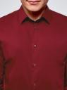 Рубашка базовая приталенная oodji #SECTION_NAME# (красный), 3B140000M/34146N/4502N - вид 4