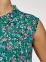 Топ базовый из струящейся ткани oodji #SECTION_NAME# (зеленый), 14911006-2B/43414/6C19F - вид 5