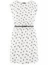 Платье без рукавов из принтованной вискозы oodji #SECTION_NAME# (слоновая кость), 11910073-1M/26346/1229A