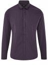 Рубашка приталенная в мелкую графику oodji для мужчины (фиолетовый), 3L110348M/44425N/8883G