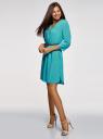 Платье вискозное с ремнем oodji #SECTION_NAME# (бирюзовый), 11900180B/42540/6D00N - вид 6