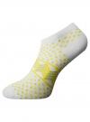 Носки укороченные (комплект из 6 пар) oodji #SECTION_NAME# (разноцветный), 57102462T6/47213/19BFG