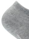Носки укороченные с надписью oodji #SECTION_NAME# (серый), 57102002/22689/2340P - вид 3