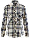 Рубашка в клетку с нагрудными карманами oodji #SECTION_NAME# (белый), 11411052-2/45624/1279C