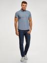 Рубашка хлопковая с коротким рукавом oodji для мужчины (синий), 3L410141M/49246N/7910G