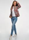 Куртка стеганая с круглым вырезом oodji для женщины (красный), 10204040-1B/42257/4920E - вид 6