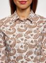 Рубашка хлопковая базовая oodji #SECTION_NAME# (разноцветный), 13K03001-1B/14885/104BE - вид 4