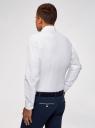 Рубашка базовая из фактурной ткани oodji #SECTION_NAME# (белый), 3B110020M-1/48379N/1000N - вид 3