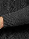 Кардиган фактурной вязки с пуговицами oodji #SECTION_NAME# (серый), 4L605052M/25365N/2300N - вид 5