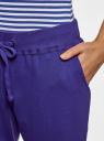 Брюки трикотажные на завязках oodji #SECTION_NAME# (фиолетовый), 16701042-1B/46919/7500N - вид 5