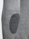 Пуловер с V-образным вырезом и декоративными пуговицами oodji #SECTION_NAME# (серый), 4L212152M-1/47210N/2379B - вид 5