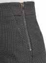 Шорты из жаккардовой ткани с высокой посадкой oodji #SECTION_NAME# (черный), 11800030-4/49847/2910D - вид 5