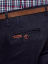 Брюки-чиносы хлопковые с ремнем oodji #SECTION_NAME# (синий), 2B150019M/25735N/7800N - вид 4