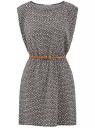 Платье вискозное без рукавов oodji #SECTION_NAME# (черный), 11910073B/26346/2912G