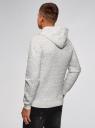Худи фактурная с карманом oodji #SECTION_NAME# (серый), 5L111035M/47770N/1200M - вид 3