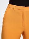 Брюки зауженные с контрастным ремнем oodji #SECTION_NAME# (желтый), 11706197/42830/5500N - вид 4