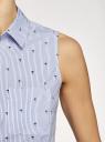 Платье хлопковое на кулиске oodji #SECTION_NAME# (синий), 11901147-4B/45202/1079O - вид 5
