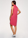 Платье хлопковое на кулиске oodji #SECTION_NAME# (розовый), 11901147-5B/42468/4D00N - вид 3