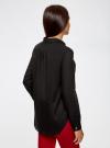 Рубашка хлопковая свободного силуэта oodji #SECTION_NAME# (черный), 11411101B/45561/2900N - вид 3